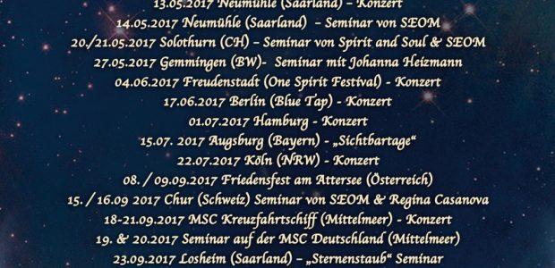 Sternenstaub Tour 2017 (Konzerte und Seminare)